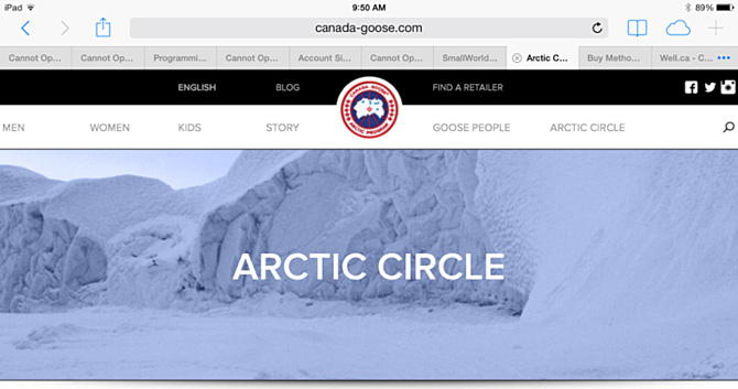 Canada Goose coats outlet 2016 - Who does it best? 5 Leading Canadian Retailer Mobile Websites ...