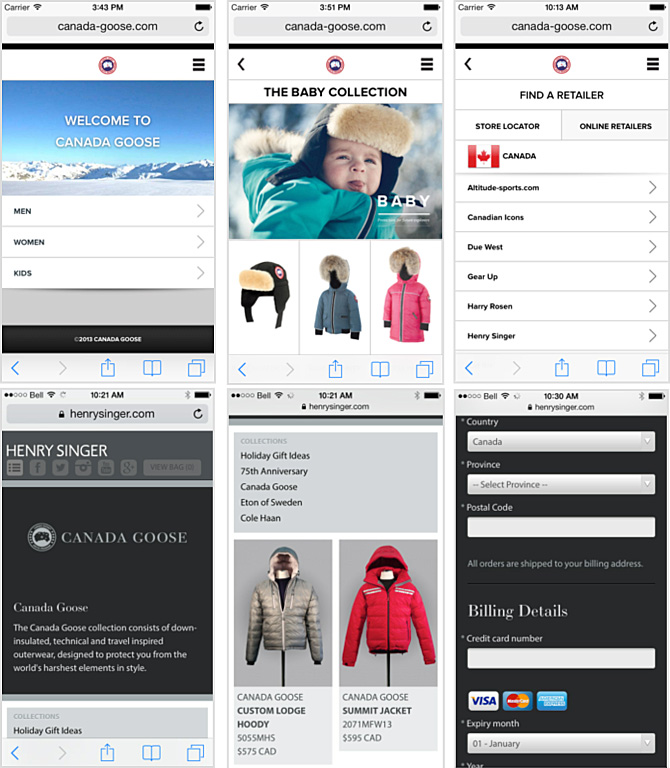 canada goose retailers in vancouver bc